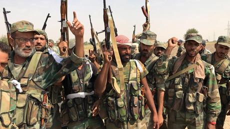 Symbolbild. Syrische Regierungstruppen nahe Deir ez-Zor.