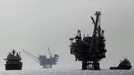 Israelische Erdgas-Förderplattform im Mittelmeer (Archivbild)