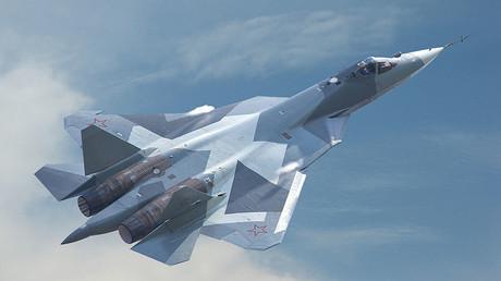 Die Suchoi PAK FA T-50 (Su-57) - ein Kampfflugzeug der fünften Generation.