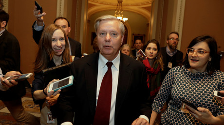 US-Senator Lindsey Graham im Capitol Hill, Washington, USA, 19. Januar 2018.