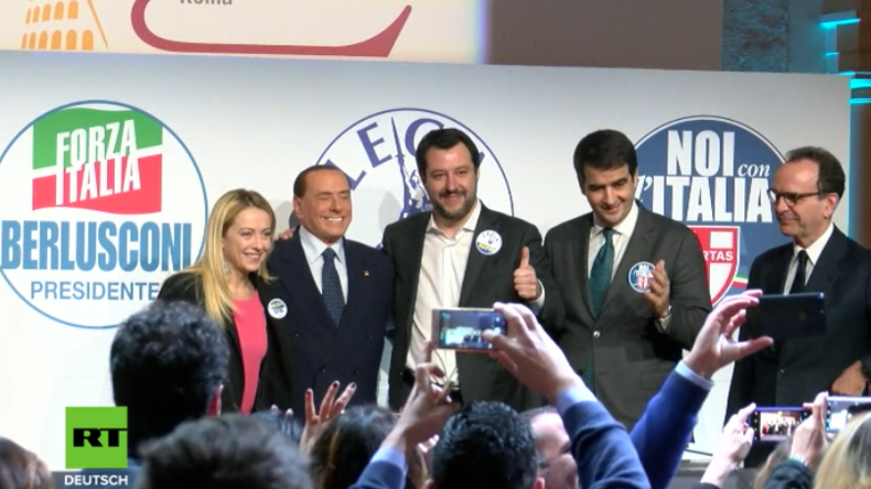 """Wahlkampf in Italien: Berlusconi """"gegen Massenmigration und all das Schlechte, was Linke brachten"""""""