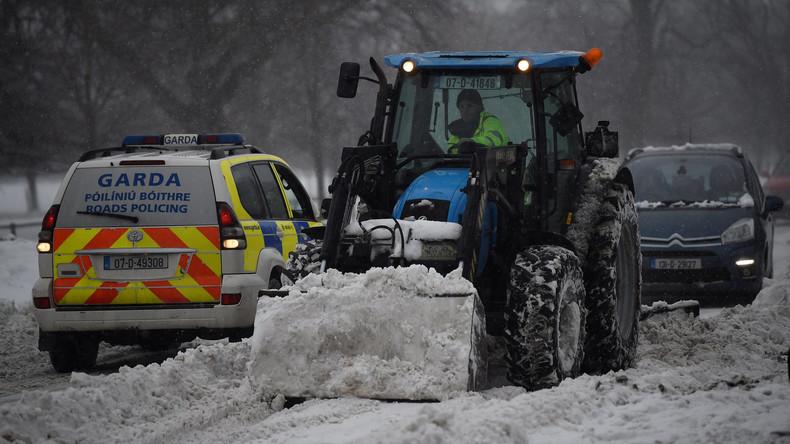 Supermarkt im Eissturm geplündert – Irlands Polizei nimmt neun Personen fest