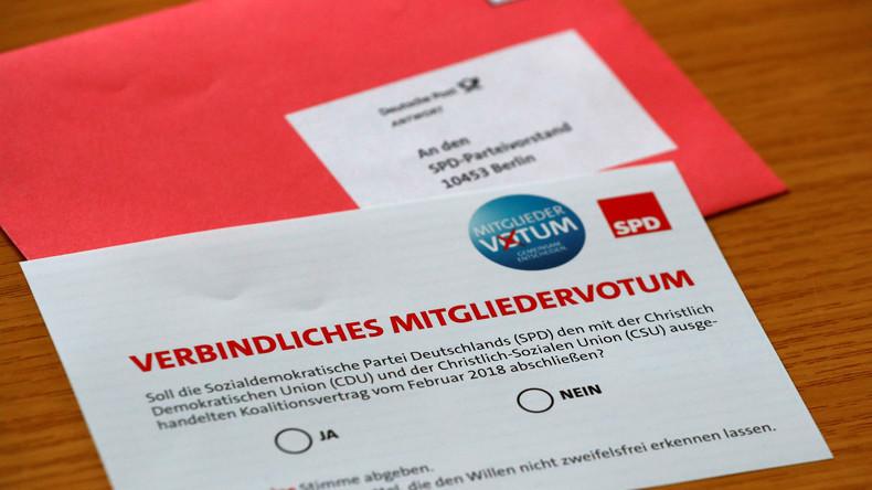 SPD: Mitglieder stimmen für GroKo