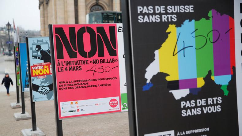 Referendum Schweiz: Umfragen sehen Befürworter von Rundfunkgebühren vorne