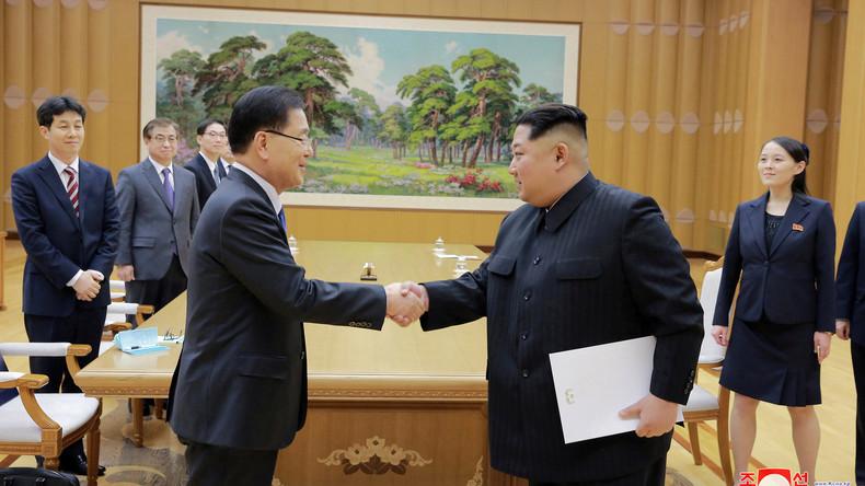 Treffen mit Sondergesandten aus Südkorea: Kim Jong Un will innerkoreanische Annäherung vorantreiben