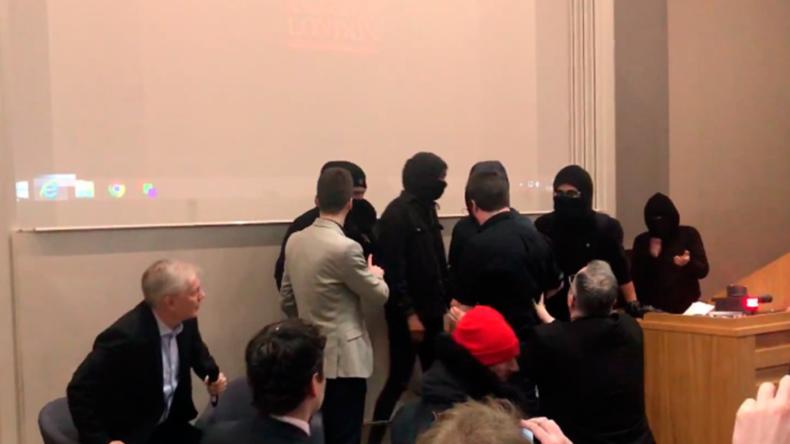 """Rauchbombe, Faustschläge und Verletzte: Maskierte """"Antifa""""-Angehörige stürmen Vortrag an Uni"""