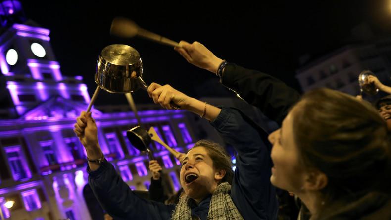 """Spanierinnen treten an Weltfrauentag in Streik: """"Wenn wir streiken, dann steht die Welt still"""""""