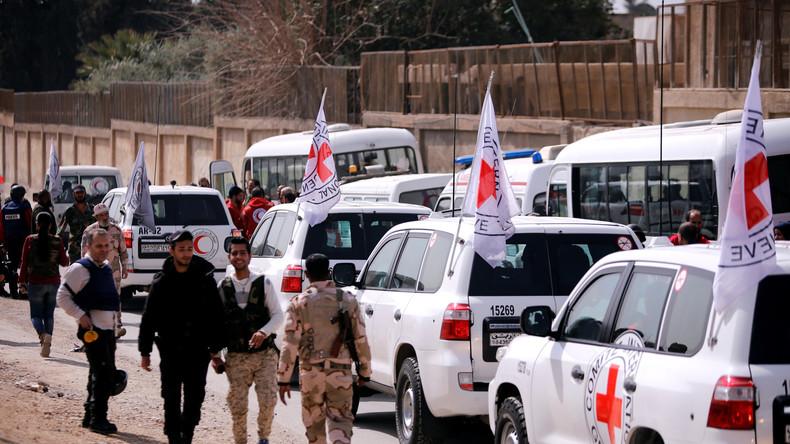 Ost-Ghuta: Aufständische greifen zivilen Konvoi mit 300 Familien an - mindestens 3 Autos verbrannt