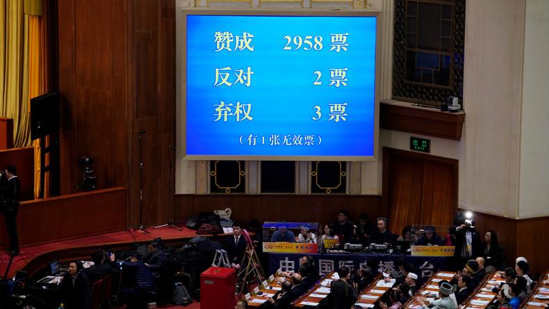 Chinas Volkskongress hebt Amtszeitbegrenzung für Staatschefs auf