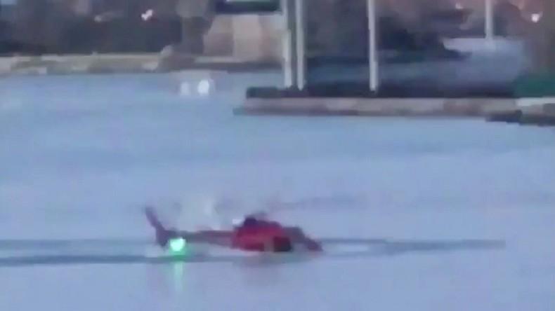 Hubschrauberabsturz über East River in New York: Fünf Tote [VIDEO]