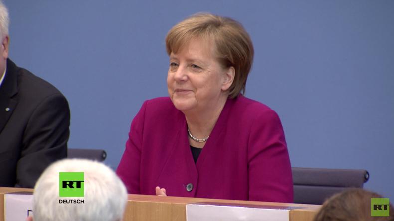 """""""Deutsches Bier"""" und """"Räucherfisch"""": Kulinarische Annäherung zwischen Merkel und Putin (Video)"""