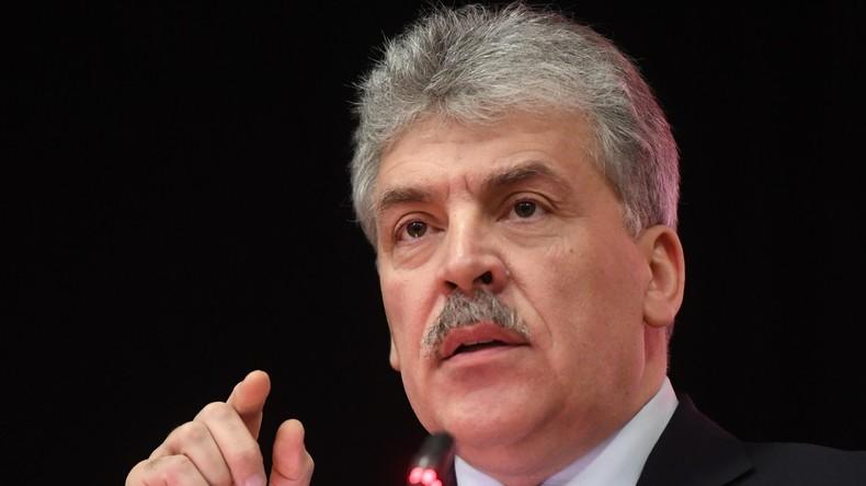 Pawel Grudinin – Kommunistische Partei der Russischen Föderation (KPRF)