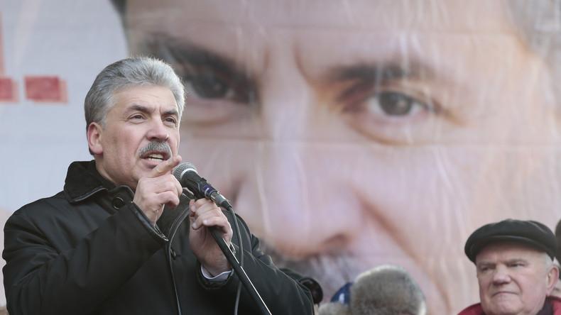 Präsidentschaftswahlen Russland: Interview mit dem Kandidaten der Kommunistischen Partei (Video)
