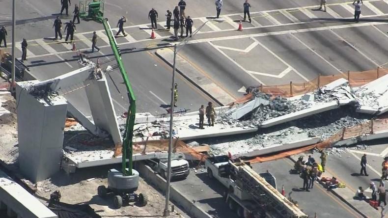 Fußgängerbrücke stürzt in Miami ein: Mehrere Tote und Verletzte