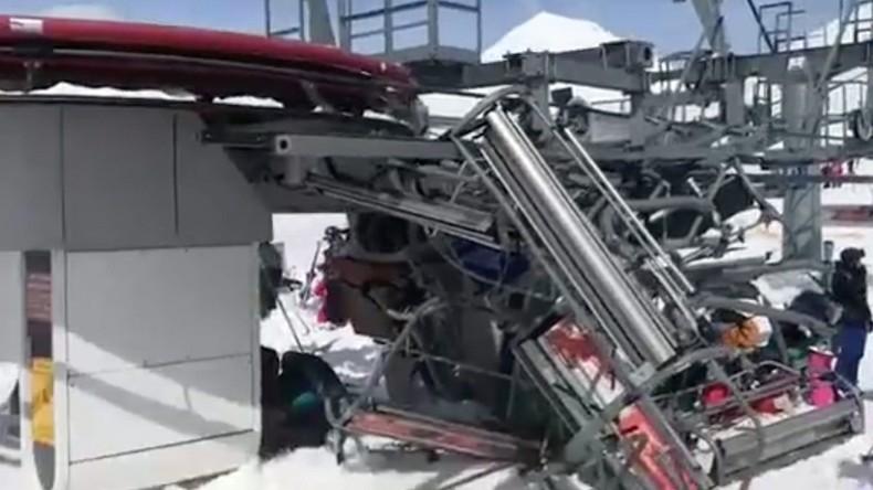 Acht Verletzte bei Seilbahnabsturz im georgischen Skigebiet