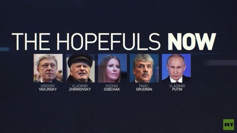 Timelines: Die Kandidaten zur Präsidentschaftswahl seit Gründung der Russischen Föderation (Videos)