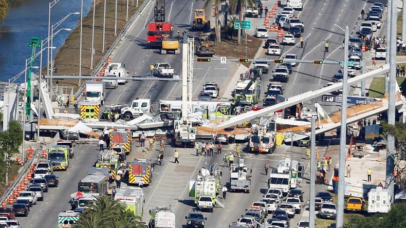 Brückeneinsturz Miami: Ingenieure entdeckten am Unglückstag Riss- Und taten nichts