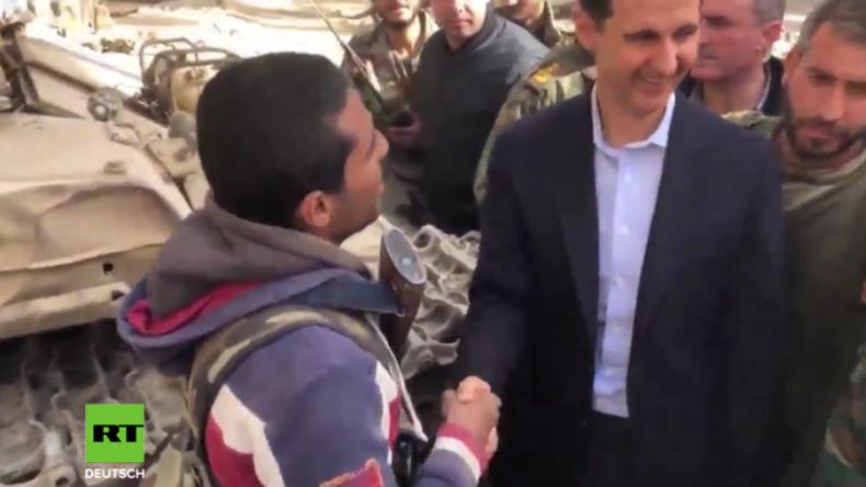 Syrien: Assad besucht syrische Soldaten in Ost-Ghuta