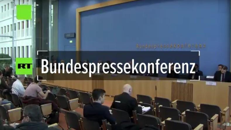 """Regierungspressekonferenz: """"Politik des Kreml eine sicherheitspolitische Herausforderung"""" (Video)"""