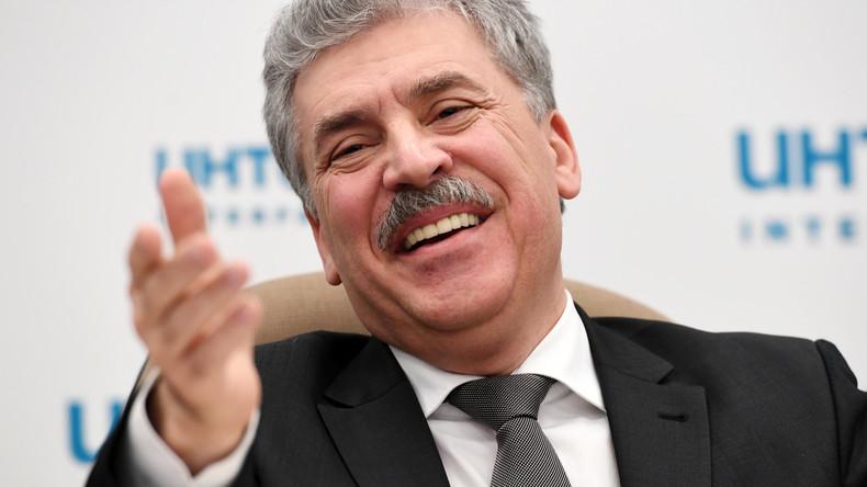 Schnurrbart-Gate: Warum die Russen auf Grudinin jetzt sauer sind