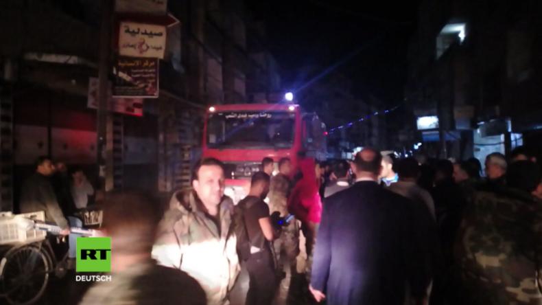 Damaskus: Islamisten aus Ost-Ghuta feuern Raketen auf Markt ab – mindestens 35 Tote