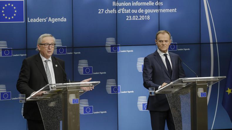 LIVE: Tag 1 des Europäischen Gipfeltreffens: Pressekonferenz von Tusk und Juncker
