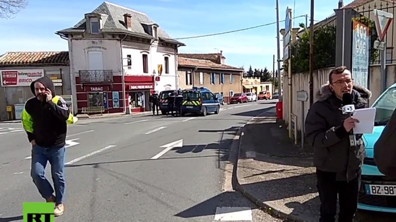 IS-Anhänger soll Geiseln genommen haben: Erste Bilder aus dem französischen Trebes - AFP: 2 Tote