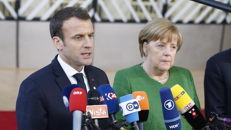 LIVE: Merkel und Macron geben gemeinsame Pressekonferenz in Brüssel