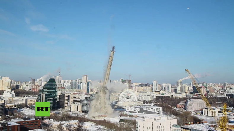 Russland: Riesiger Fernsehturm wird in Jekaterinburg abgerissen
