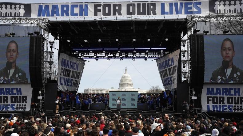 Hunderttausende marschieren gegen Waffengewalt in USA