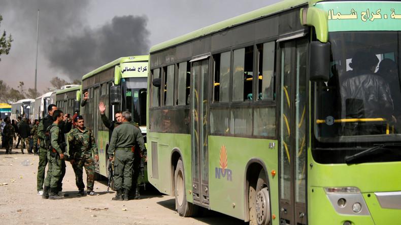 Russische Militärbehörde: Beinahe 5.500 Rebellen verließen innerhalb eines Tages Ost-Ghuta