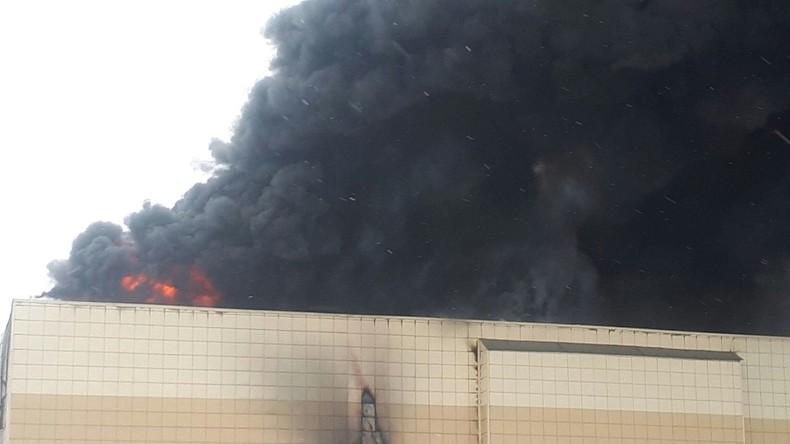 Brand in sibirischem Einkaufszentrum - Spekulationen über mangelhaften Brandschutz