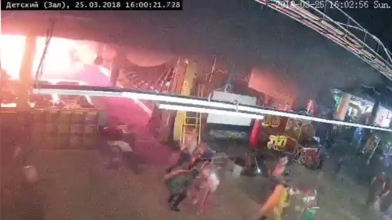 Russland: Video aus Einkaufszentrum in Kemerowo soll Beginn des tödlichen Brandes zeigen