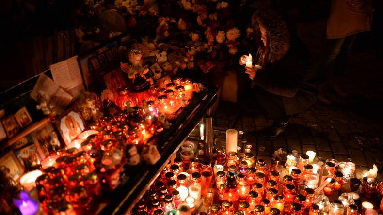 Brandkatastrophe mit 64 Toten: Russlands Präsident gedenkt der Opfer in Kemerowo