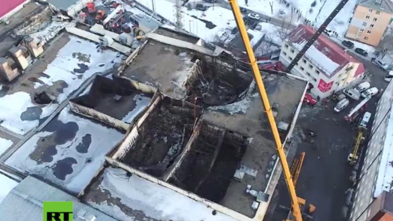 Kemerowo: Ein Trümmerhaufen - Aufnahmen zeigen Einkaufszentrum nach verheerendem Feuer