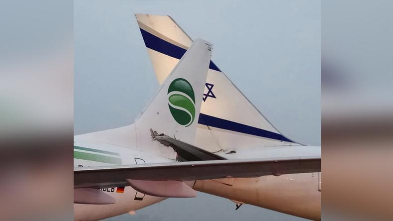 Germania-Flugzeug stößt am Boden mit israelischem Flugzeug zusammen – hoher Sachschaden