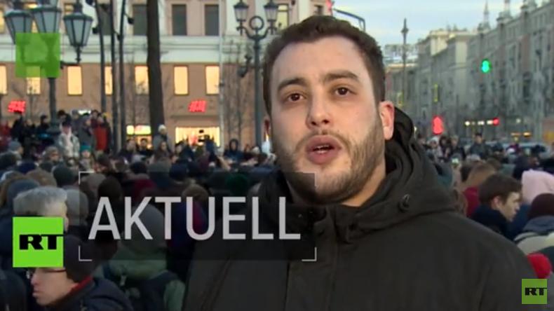 Nach der Tragödie von Kemerowo: Trauerversammlung am Moskauer Puschkin-Platz (Video)