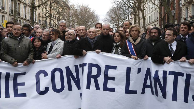 Nicht alle dürfen Betroffenheit zeigen: Le Pen und Mélenchon an Antisemitismus-Protest gehindert