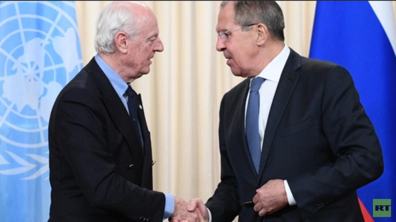 LIVE: Lavrov und de Mistura halten gemeinsame Pressekonferenz in Moskau über Syrien ab