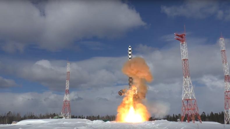 Neueste russische Interkontinentalrakete Sarmat absolviert zweiten Testflug