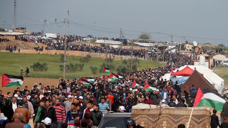 """""""Marsch der Rückkehr"""" im Gazastreifen: Auseinandersetzungen mit israelischer Armee ausgebrochen"""