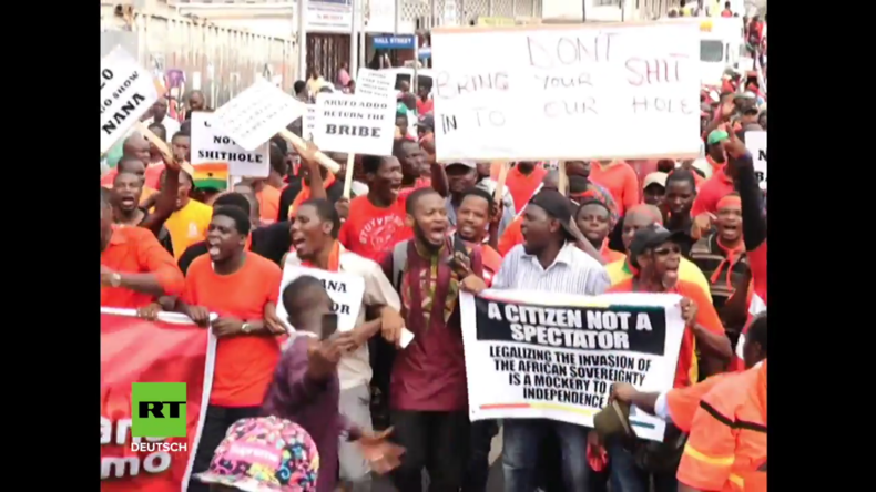 Ghana: Tausende protestieren gegen 20-Millionen-Dollar-Deal mit USA