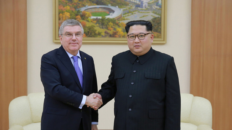 IOC-Chef Thomas Bach dankt Kim Jong-un für Kooperation bei Olympia in Südkorea