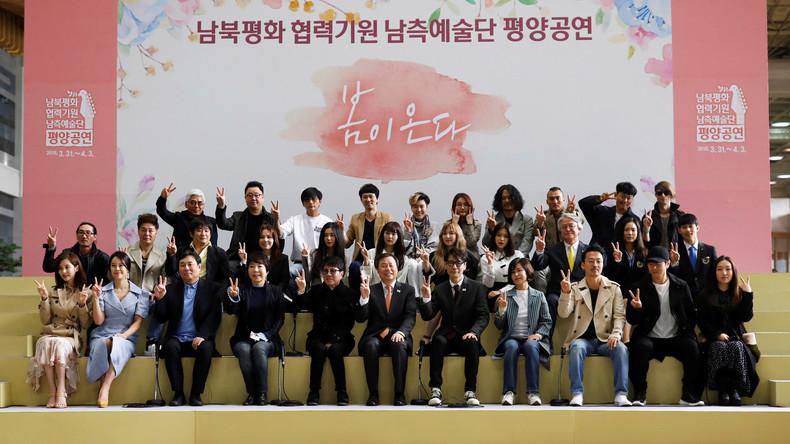Südkoreanische Popstars brechen zu Konzerten nach Nordkorea auf