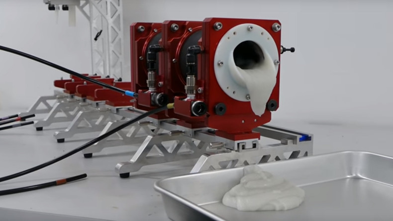 Kotzen ist sicherer als Mixen: Japanische Ingenieure lassen Roboter Raketentreibstoff herauswürgen