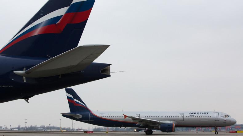 """Durchsuchung des russischen Passagierflugzeugs: London suchte nach """"Waffen"""" und """"verbotenen Stoffen"""""""
