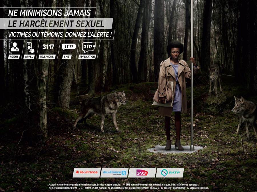 Homo homini lupus: Französische Kampagne gegen sexuelle Belästigung vergleicht Männer mit Raubtieren