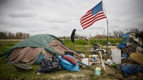 Zelte von Obdachlosen, Kalifornien, USA, 15. März 2009