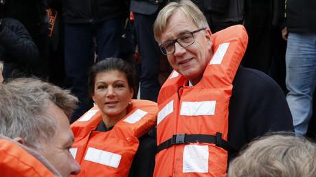 Wollen die Beziehungen zu Russland retten: Dietmar Bartsch und Sahra Wagenknecht (DIE LINKE).