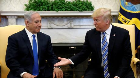 Trump und Netanjahu im Weißen Haus.